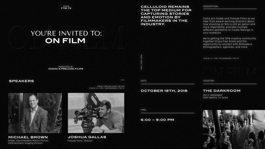 On Film Recap - Shooting On Film in Fort Worth - Prelude Films